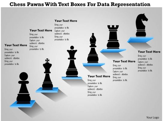 1214 Chess Pawns With Text Boxes For Data Representation