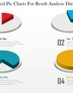 Four colored pie charts for result analysis data driven powerpoint slide images ppt design templates presentation visual aids also rh slideteam