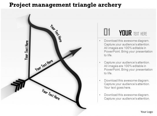 1214 Project Management Triangle Archery Powerpoint