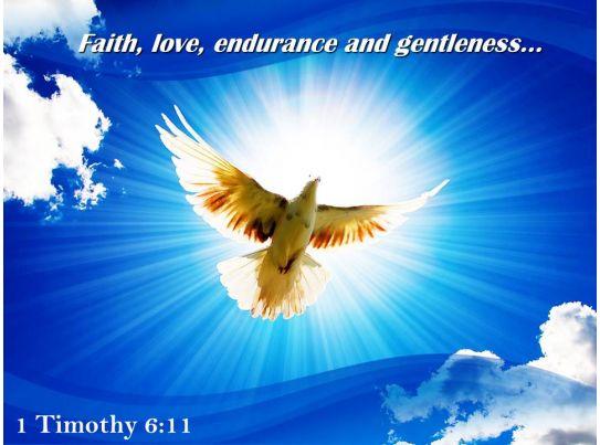1 Timothy 6 11 Faith Love Endurance Powerpoint Church Sermon PowerPoint Templates Download