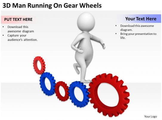 net diagrams of 3d shapes sink pipe diagram man running on gear wheels ppt graphics icons powerpoint | presentation ...