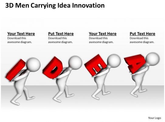 net diagrams of 3d shapes frog inside diagram men carrying idea innovation ppt graphics icons powerpoint
