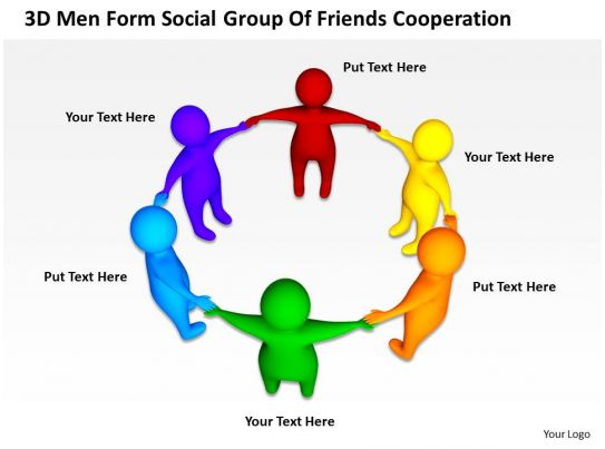 net diagrams of 3d shapes schematic diagram steam power plant men form social group friends cooperation ppt graphics icons