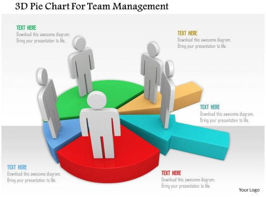 3d Pie Chart For Team Management Ppt Graphics Icons