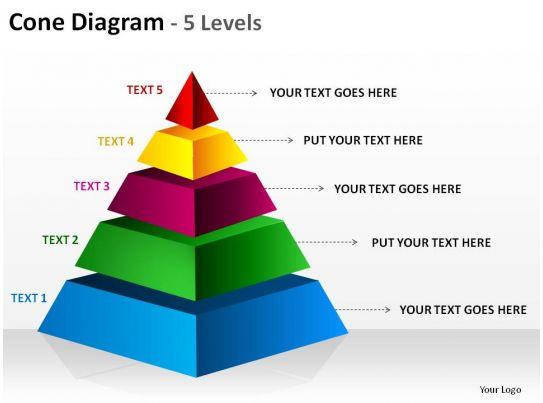 tree diagram game 2004 dodge durango infinity radio wiring 3d pyramid cone 5 levels split separated ppt slides presentation diagrams templates ...
