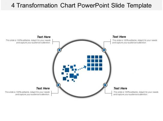 4 Transformation Chart Powerpoint Slide Template