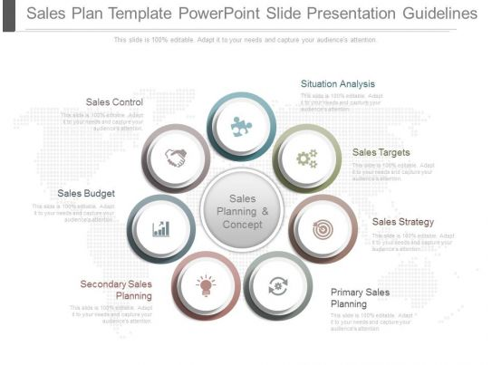 A Sales Plan Template Powerpoint Slide Presentation