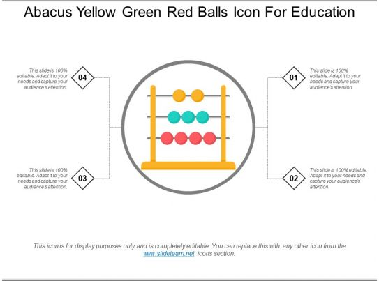 Abacus Yellow Green Red Balls Icon For Education