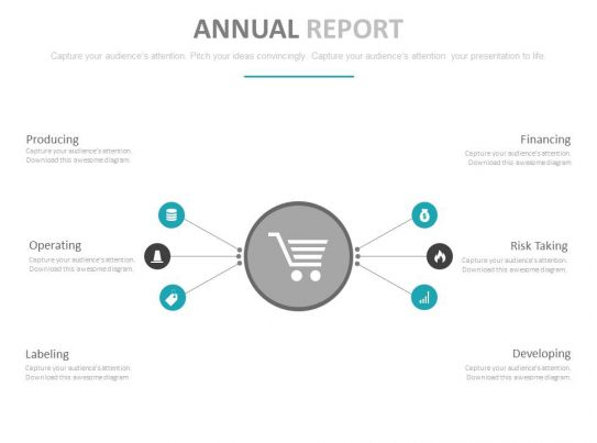 Annual Report With Financial Analysis Powerpoint Slides