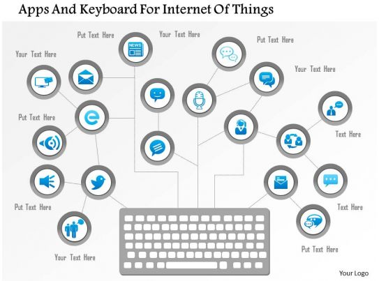 Apps And Keyboard For Internet Of Things Ppt Slides