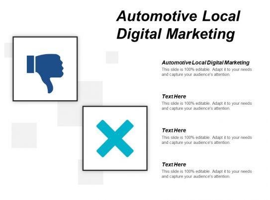 Automotive Local Digital Marketing Ppt Powerpoint