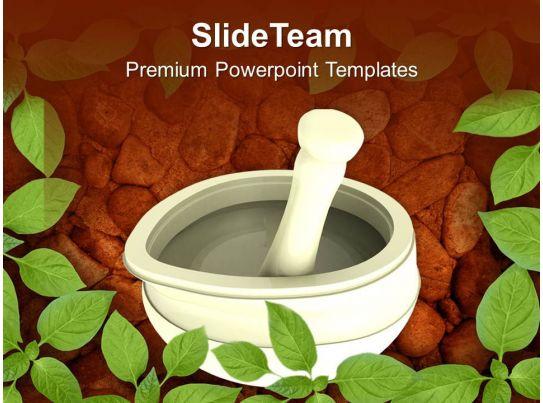 Ayurvedic Medicine Maker PowerPoint Templates PPT Themes