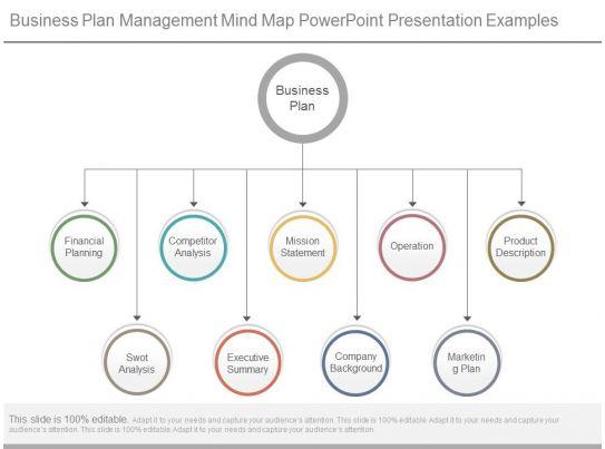 Business Plan Management Mind Map Powerpoint Presentation