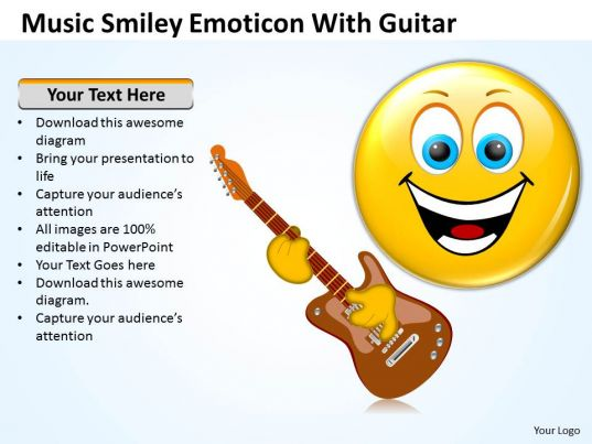 Business PowerPoint Templates Music Smiley Emoticon With