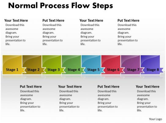 sales process flow diagram examples f150 wiring 2007 business powerpoint templates normal theme steps ppt slides 8 stages