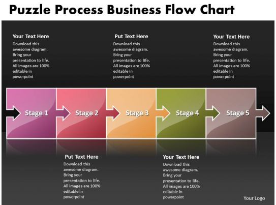Business PowerPoint Templates Puzzle Process Flow Chart