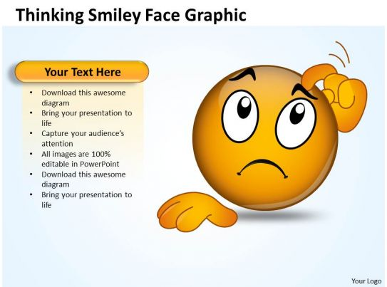 Business PowerPoint Templates thinking smiley face graphic
