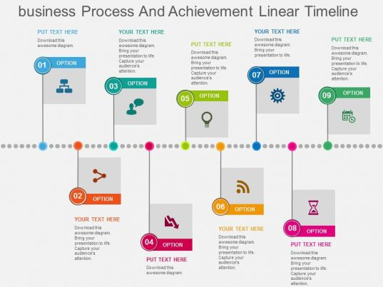 food process flow diagram symbols 1957 chevy wiring business and achievement linear timeline flat powerpoint design