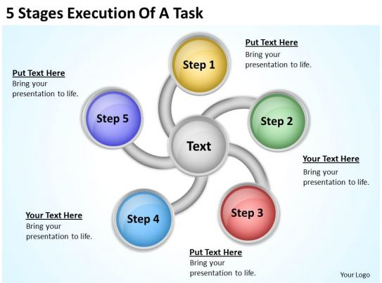 Business Process Workflow Diagram Of Task Powerpoint