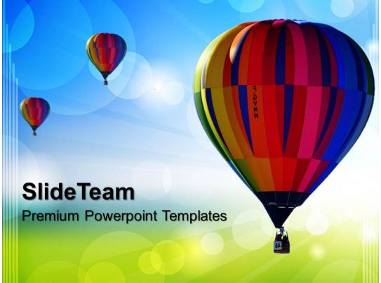 business strategy development templates hot air ballon abstract ppt layouts powerpoint