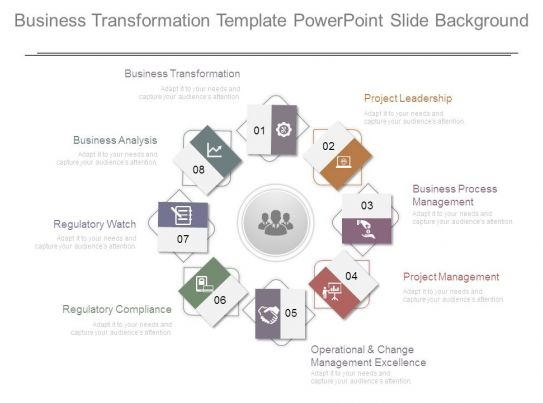 Business Transformation Template Powerpoint Slide