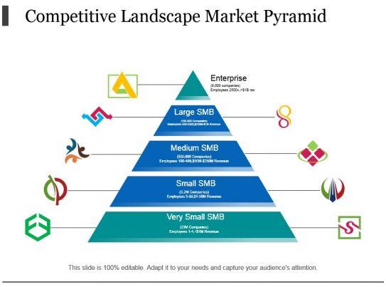 competitive landscape market pyramid
