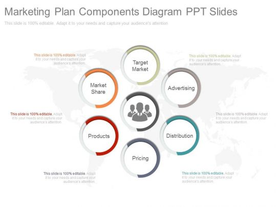 Custom Marketing Plan Components Diagram Ppt Slides