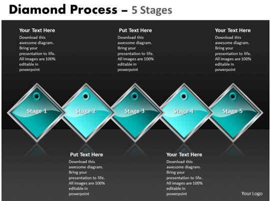 Diamond Process 5 Stages 34 PowerPoint Presentation Slides PPT Slides Graphics Sample PPT