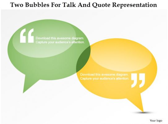 Dq Two Bubbles For Talk And Quote Representation