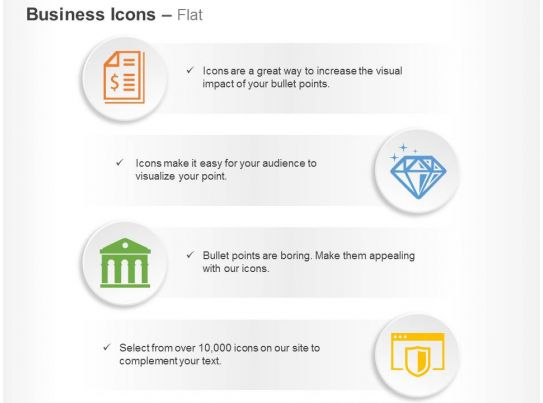 Financial Report Diamond Bank Financial Safety Ppt Icons