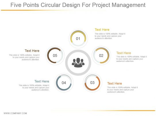 Five Points Circular Design For Project Management
