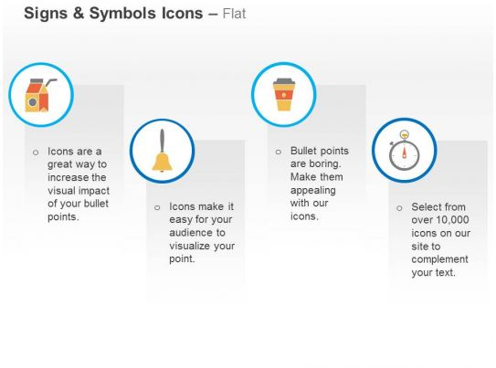 Home Bell Recycle Bin Alarm Clock Ppt Icons Graphics