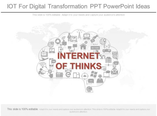 Iot For Digital Transformation Ppt Powerpoint Ideas