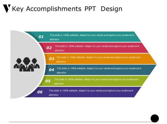 Key Accomplishments Ppt Design Presentation PowerPoint