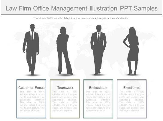 Law Firm Office Management Illustration Ppt Samples