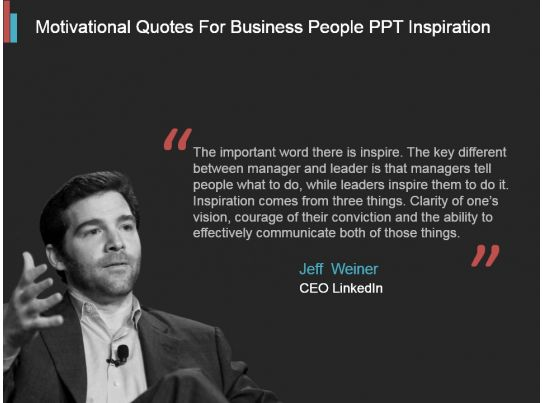 Motivational Quotes For Business People Ppt Inspiration