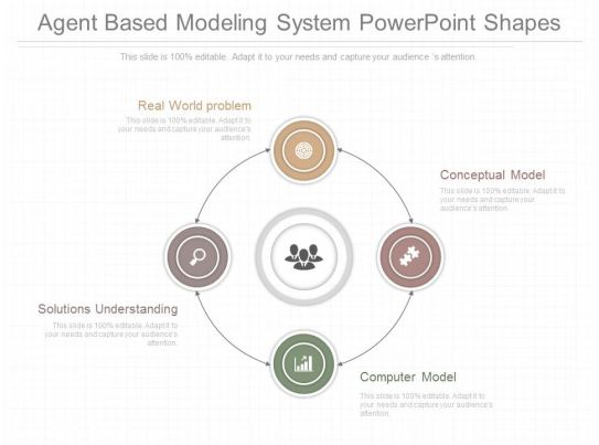 Original Agent Based Modeling System Powerpoint Shapes