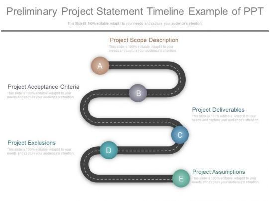 Preliminary Project Statement Timeline Example Of Ppt