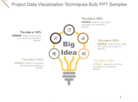 Project Data Visualization Techniques Bulb Ppt Samples