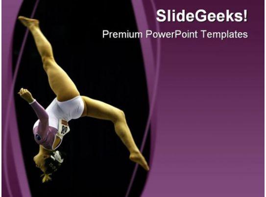 Gymnast Sports PowerPoint Template 0610 Presentation