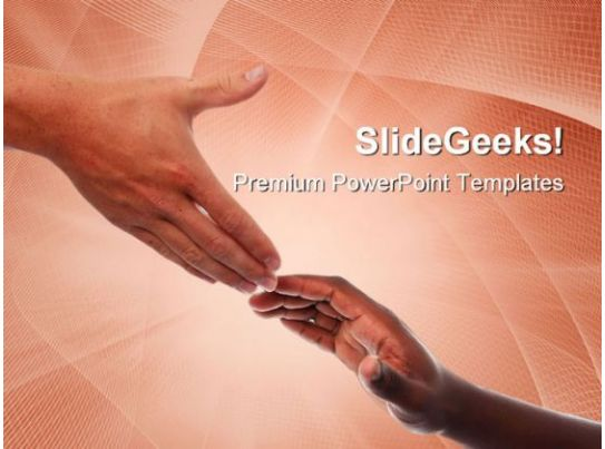 Helping Hands Business PowerPoint Templates And PowerPoint Backgrounds 0711  PowerPoint Slide