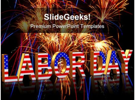 Labor Day Americana PowerPoint Templates And PowerPoint Backgrounds 0111 Templates PowerPoint