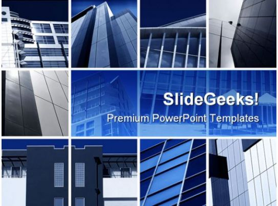 Modern Architecture Montage Business PowerPoint Backgrounds And Templates 1210 PowerPoint