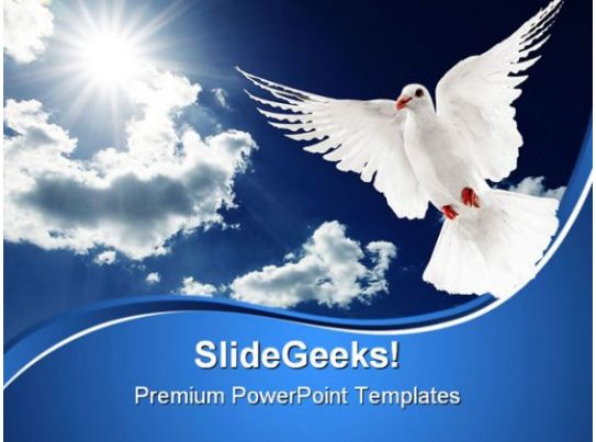 White Dove Religion PowerPoint Templates And PowerPoint