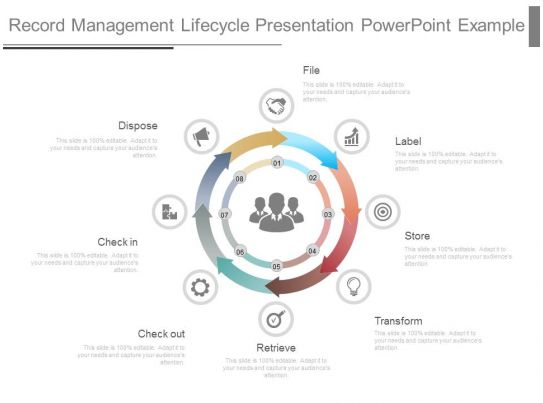Record Management Lifecycle Presentation Powerpoint