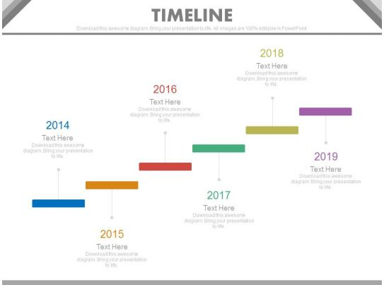 Six Staged Stair Design Timeline For Business Powerpoint