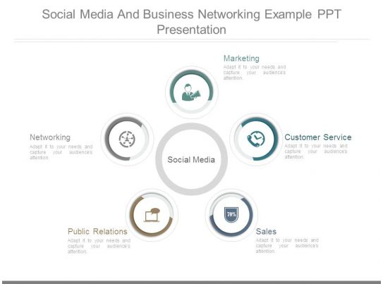 Social Media And Business Networking Example Ppt