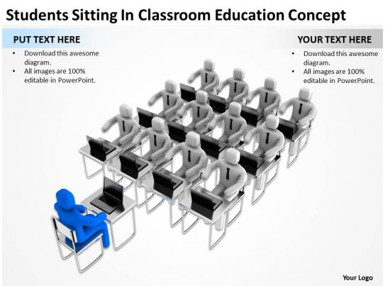 Students Sitting In Classroom Education Concept Ppt