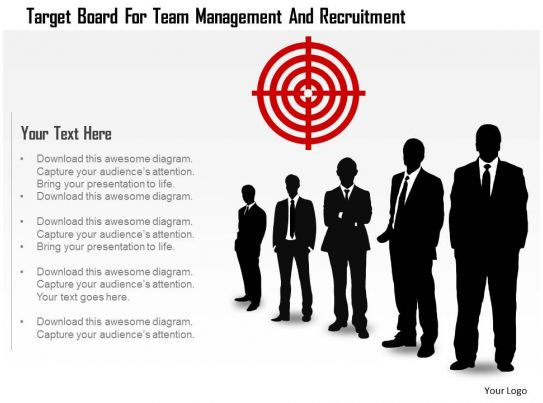 Target Board For Team Management And Recruitment