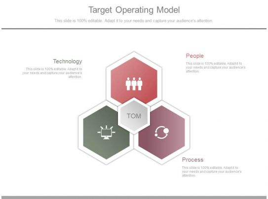 Target Operating Model Sample Diagram Powerpoint Slide